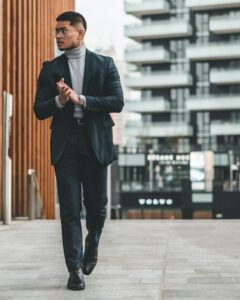 Casual, yet stylish, business man